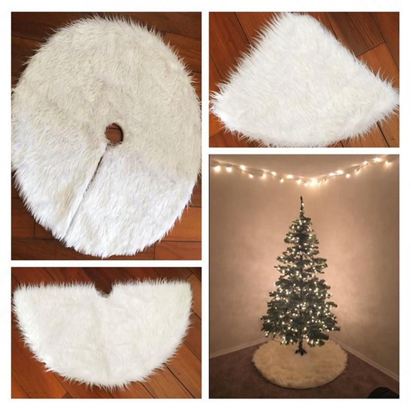 cilected christmas tree skirt white fur carpet christmas tree decorations navidad supplies cheap. Black Bedroom Furniture Sets. Home Design Ideas