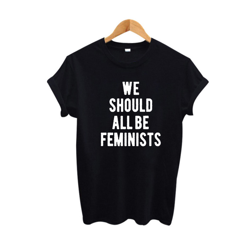 285b1cedd We Should All Be Feminists T Shirt Fashion Summer Women Tops Black ...