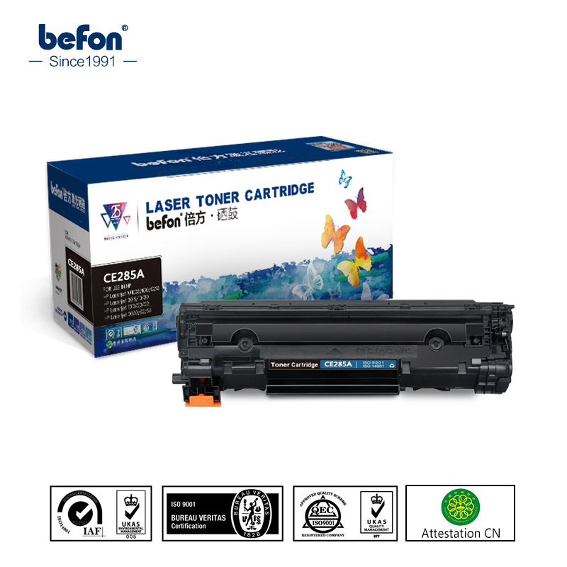 Befon Compatible 285A Toner Cartridge Replacement For HP CE285A 85a P1102 P1102W Laserjet Pro M1130 M1132 M1134 M1212 Mf 3010