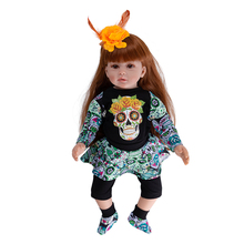 2019 New Reborn Doll Baby Girl Dolls Soft Silicone Boneca Reborn Brinquedos Bonecas Children's Day Gifts Toys Bed Time Plamate 22inches reborn dolls kid s toys cute princess diy dolls boy girl brinquedos gifts baby accompany toys enlightenment dolls