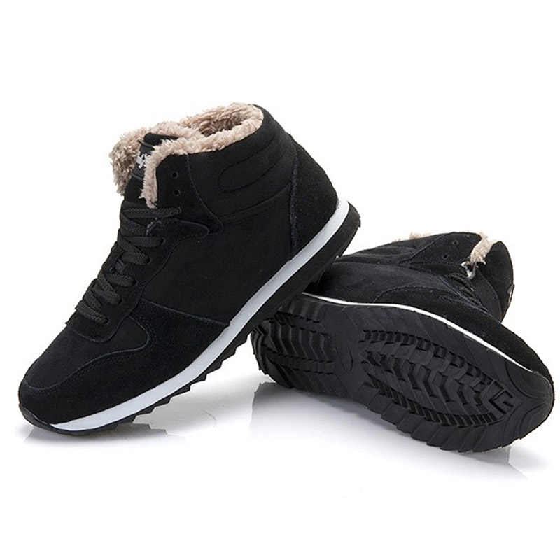 LAKESHI 2019 Yeni Kadın Botları Kış Kar Botları Rahat yarım çizmeler Sıcak Kış Ayakkabı Kar Kadın Ayakkabı Artı Boyutu 35 46