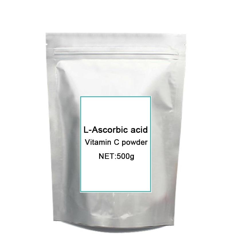 Pure natural vitamin C, L-Ascorbic acid, vitamin C, for 500grams free shipping free shipping natural vitamin e soft capsule supplement vitamin e 0 25g softgels 60 capsules