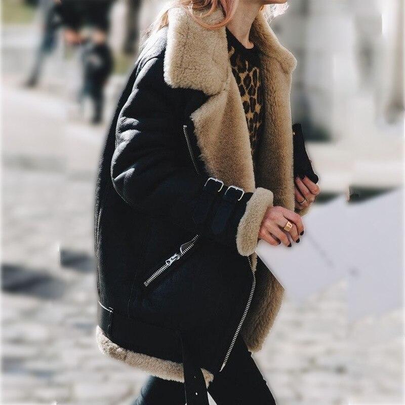 D'hiver Streetwear En Bombardier 2018 Manteau Dames De 4 La Oversize Survêtement Polaire Chaud Velours Épais Vestes 3 2 Fourrure Cuir Veste 1 Taille Plus 5xl tnzP040Fq