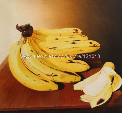 Ripe Yellow Bananas Handmade Peru Fine Art Painting Still Life Oil ...