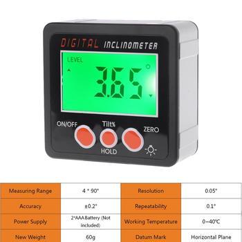 Escudo Da Liga De Alumínio Ângulo De Caixa De Bisel Transferidor Inclinômetro Digital Eletrônico Medidor De Ferramenta De Medição Do Medidor