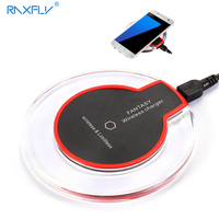 RAXFLY Qi Wireless Charger For Samsung Galaxy S8 Fast Wireless Mobile Phone Chargers For Samsung S7