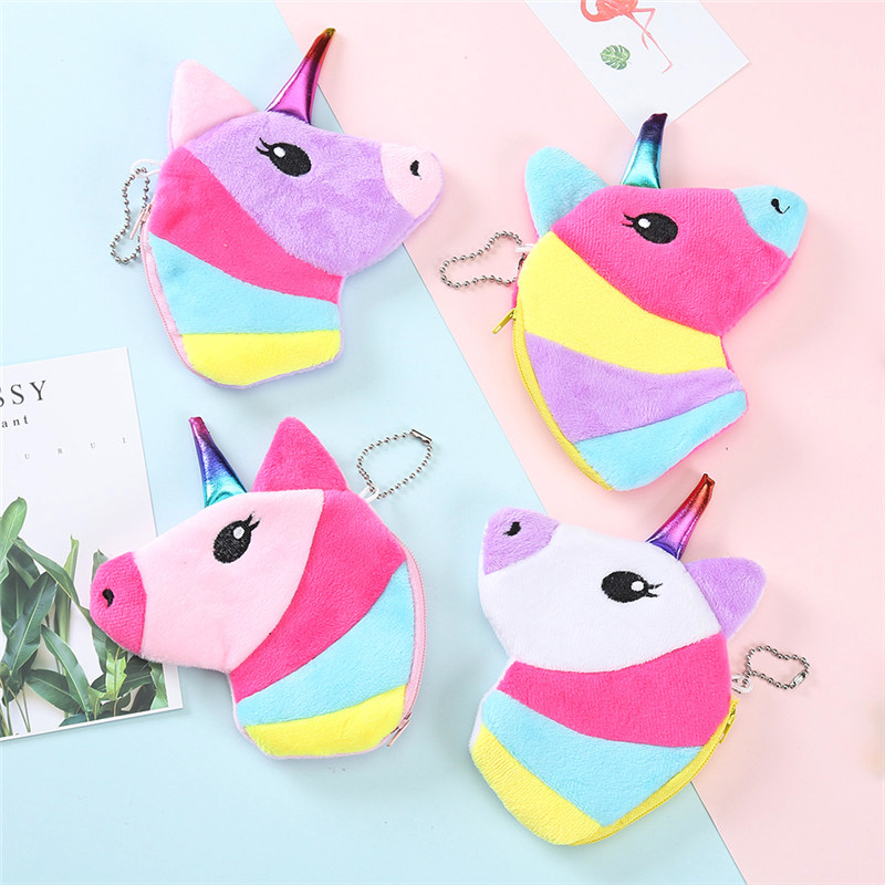 New Animal Unicorn Kids Coin Purse Women Girls Wallets Small Cute Cartoon Unicorn Card Holder Money Bag For Kids Children Gift katuner new cute cartoon fruit ice sucker kids coin purse for girls wallet children women card holder porte monnaie kb032