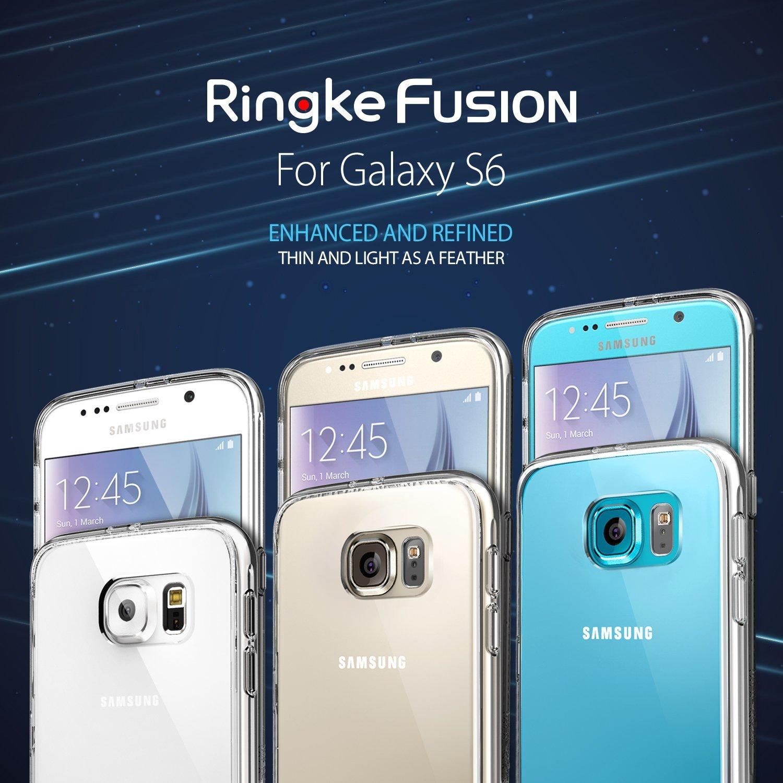 imágenes para 100% Original Ringke Fusión para Samsung Galaxy S6-Premium Resistencia Gota Cristalino de La Contraportada para la Galaxia S6