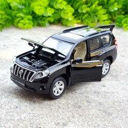 1:32 alloy pull back car toys, high imitation Toyota LAND CRUISER PRADO, metal castings,Original Toyota Prado,free shipping