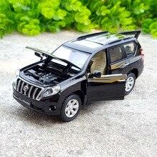 1:32 stop samochód z napędem pull back zabawki, wysoka imitacja Toyota LAND CRUISER PRADO, odlewy metalowe, oryginalny Toyota Prado, darmowa wysyłka