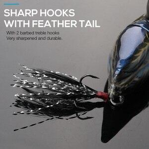 Image 4 - Trehook Eend Vissen Lokt Swimbait 7Cm 10G Drijvende Minnow Wobblers Voor Pike Vissen Kunstmatige Harde Aas Krukken Jointed wobler