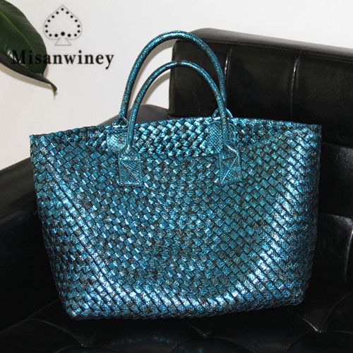 Latest Fashion Snakeskin Woven Big Totes Bag Women Handbags High Quality Faux Leather Large Bag Ladies Shouder Bags Purse faux leather woven love courage bracelet