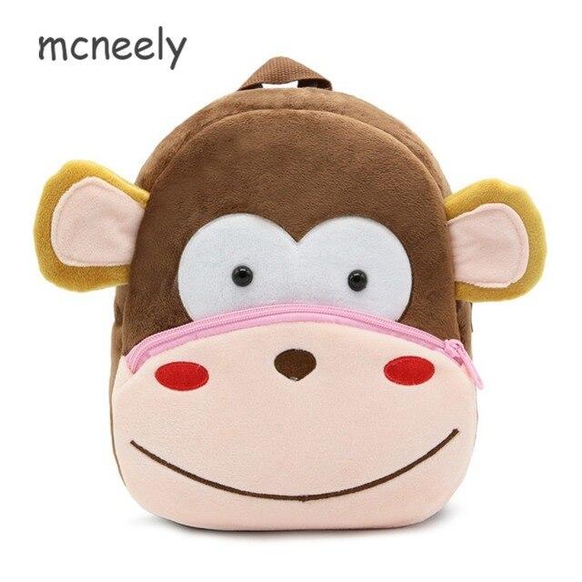 886eaf8ca9 Lovely Plush School Bags Children Monkey Cartoon Kid Backpack for Baby  Girls Boys Kindergarten Kids Backpacks