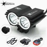SolarStorm XM-L T6 LED tête avant vélo vélo lumière phare + batterie + chargeur + vélo queue lumière livraison gratuite