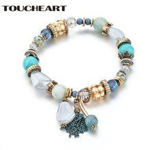 Женский браслет Шарм с бусинами из камня toucheart в индийском
