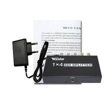 Wiistar SDI Splitter 1x4 Distribution Extender, Support SD-SDI,HD-SDI and 3G-SDI and distribute to 4 simultanous SDI output