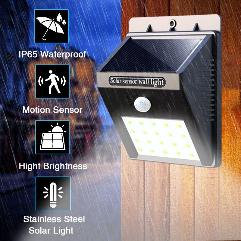 Lâmpadas Solares sensor de movimento da parede Características : Motion Sensor