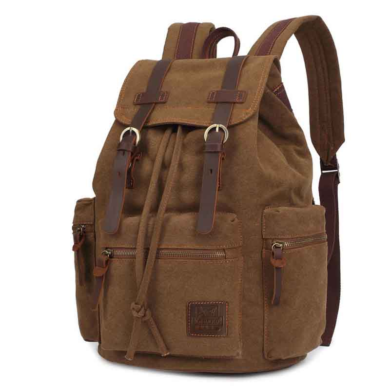 Backpack canvas men bags High-quality waterproof travel backpacks Vintage High capacity Casual bag military knapsack school bag high quality men vintage canvas backpack men s casual riding travel backpacks bag school bags mochila escolar