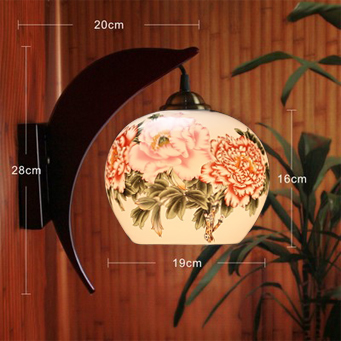 ФОТО LED E27 220v 110v Antique Wall Lamp Jingdezhen Ceramic Wooden Bedside Home Deco Hotel Lamp Night Colorful Wall Lights