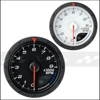 TACHOMETER gauges Advance DEFI CR universal car instrument 2.5 Inch 60mm White + red light color Free shipping