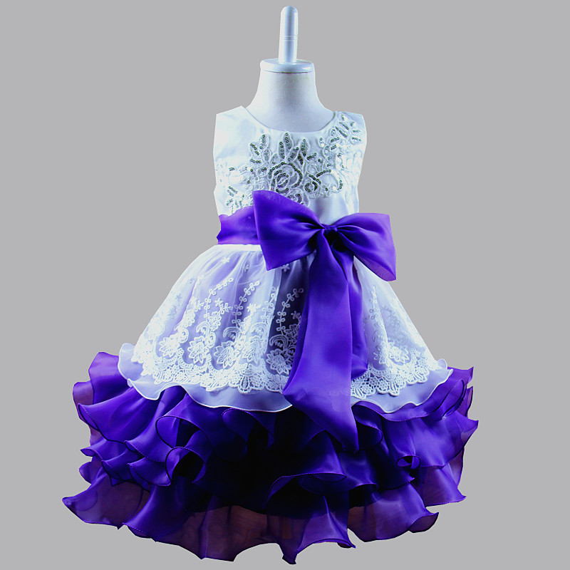 2017 Flower Girls Wedding Party Dresses Children Bridesmaid Toddler Girl Princess Dress Floral Bridal Tulle Formal Summer Dress girls dress 2017 new summer flower kids party dresses for wedding children s princess girl evening prom toddler beading clothes