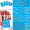 Beautynailart  90PCS/LOT BLE1819-1829 Nail Art Water Transfer Stickers Tattoo Effect Decals-Flowers Butterflies Leaves Pearls