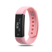 Fitness Watches Heart Rate Monitor Smart Band ID115 Wristband Black Pink Blue Bracelet Activity Tracker for xiaomi iphone