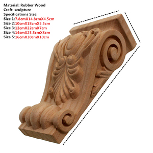 Image 2 - Unpainted VZLX Vintage Madeira Esculpida Onlay Canto Applique Porta Do Armário Quadro Fundo Da Parede de Casa Decoração Artesanato Mobiliário Pernas