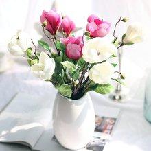 1pc 3colour 42cm wedding decoration silk flowers orchid Magnolia artificial for home