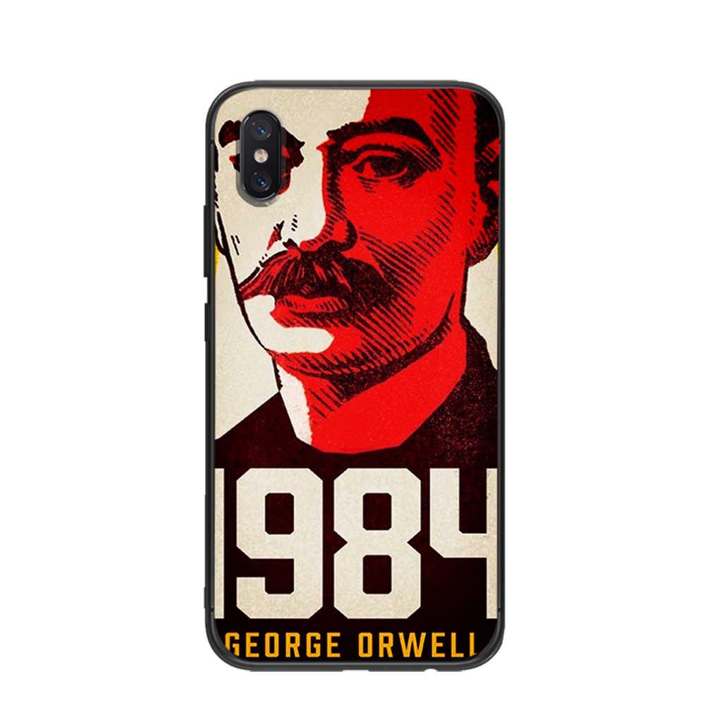 1984 Orwell książki powieść miękkie TPU na Xiaomi Redmi Mi6 8 9 A1 A2 F1 Plus przypadku Redmi 5/5 Plus M8 Lite silikonowe obudowa na telefon