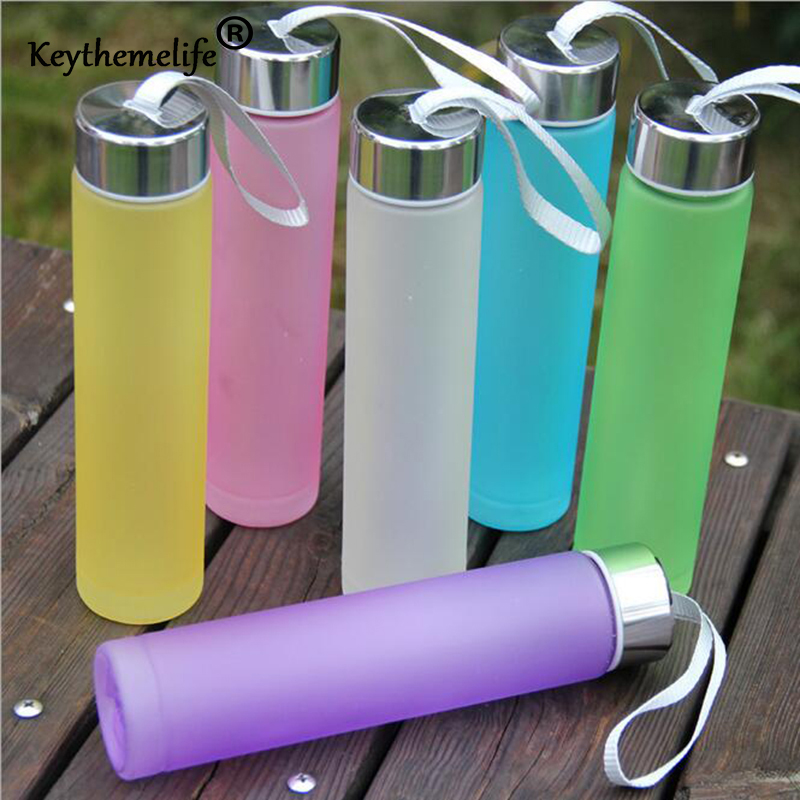 Keythemelife New Multi Colors Portable Bike Sports Travel Unbreakable Plastic Water Bottle Cycling Camping Water Bottle C0