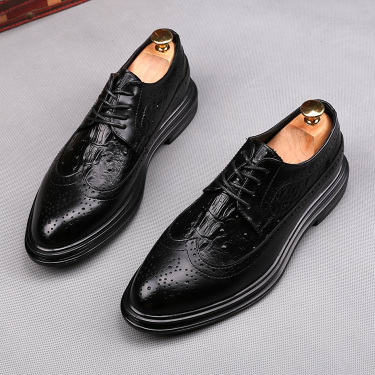 YLY Mens Fashion Oxford Casual Round Toe Lace up Thick Bottom Leisure Shoes Dress Shoes