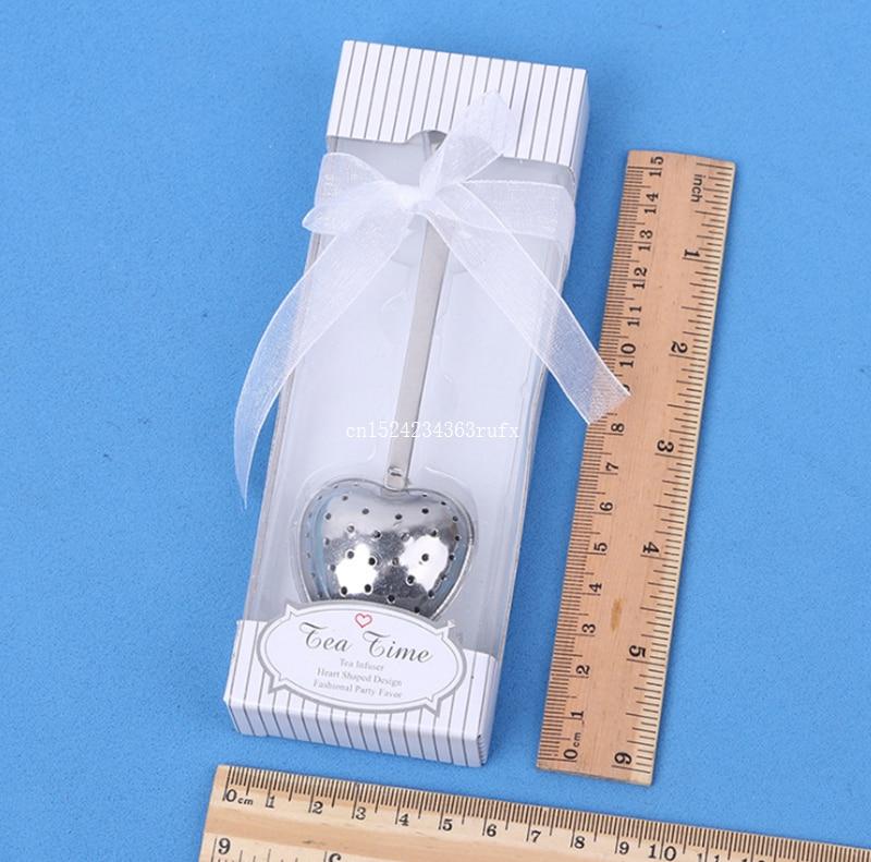500pcs Wedding Gift Tea Time Heart Tea Infuser Favor in
