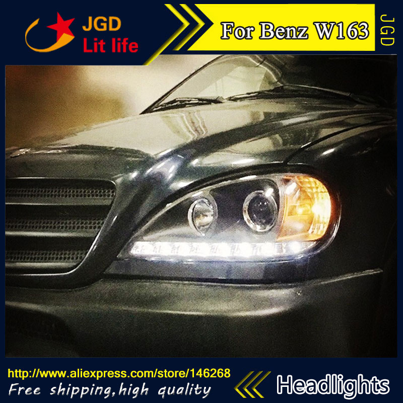 Auto Part Style LED Head Lamp for Benz W163 ML320 ML280 ML350 ML430 2002-2005 led headlights drl hid Bi-Xenon Lens low beam auto clud style led head lamp for benz w163 ml320 ml280 ml350 ml430 led headlights signal led drl hid bi xenon lens low beam