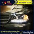 Auto Parte Estilo LED Cabeça Da Lâmpada para o Benz W163 ML320 ML280 ML350 ML430 2002-2005 led drl faróis escondeu Lente Bi-Xenon farol baixo