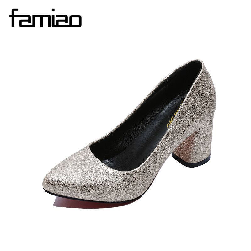 FAMIAO Hot 2017 Spring Autumn Women Pumps Sexy Gold Silver High Heels Shoes Fashion Pointed Toe Wedding Shoes Party Women Shoes siketu 2017 free shipping spring and autumn high heels shoes fashion women shoes wedding shoes sex wild pumps g427