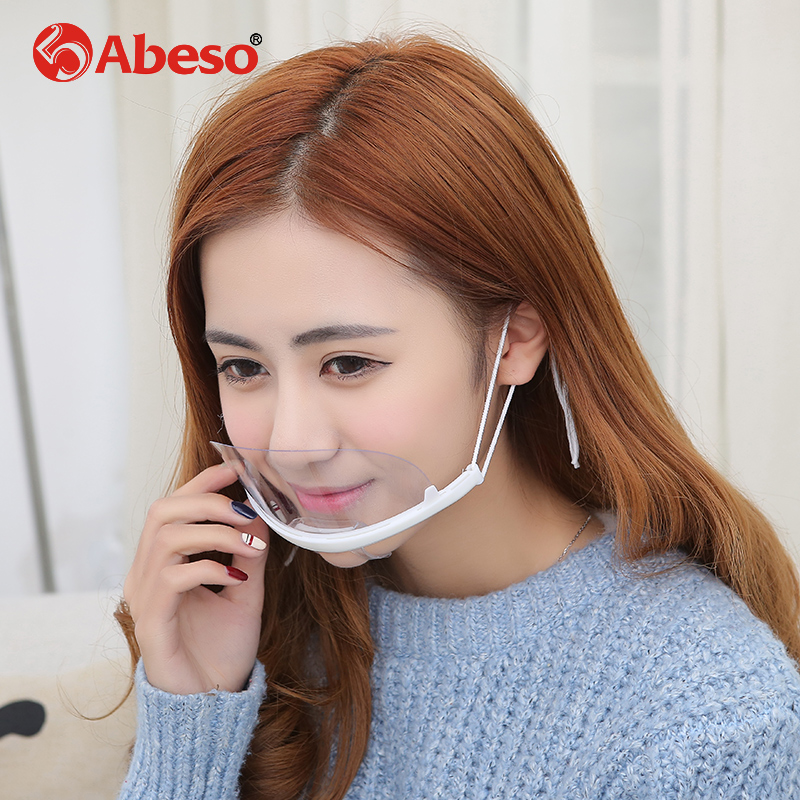 ABESO transparent plastic anti-fog mouth fast restaurant food cook special monkey custom realistic silicone masks realistic mask fast food leisure fast food equipment stainless steel gas fryer 3l spanish churro maker machine