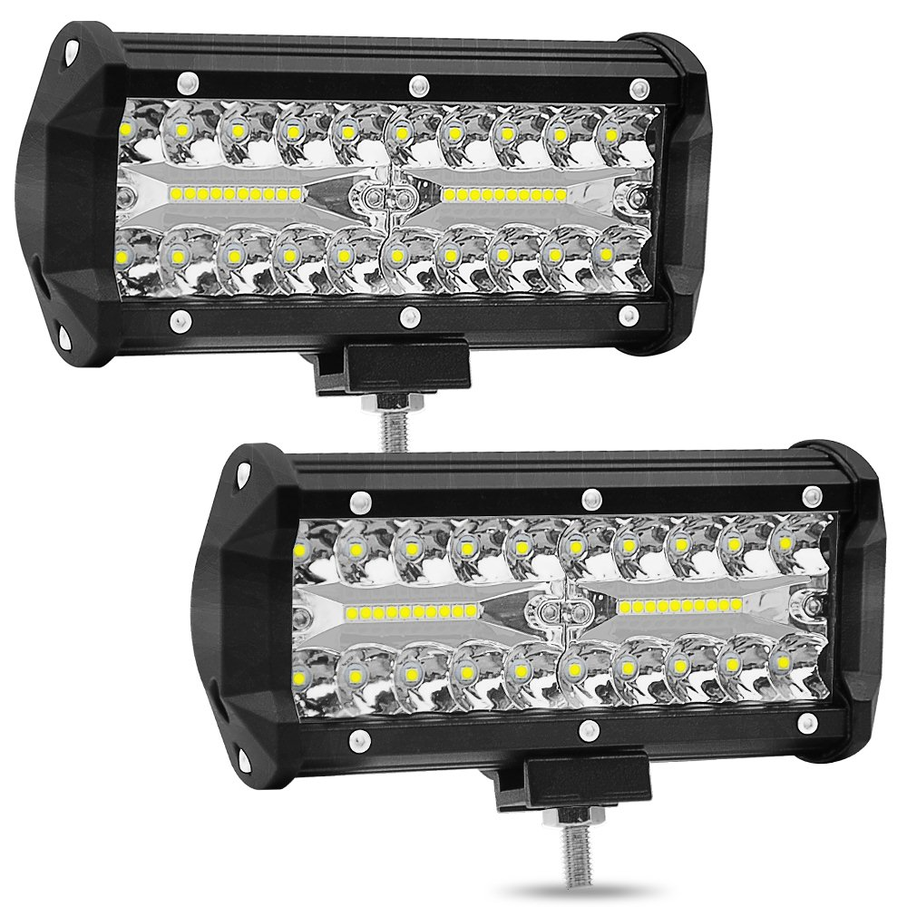 7 Inch 120W two Rows Led Light Bar 6000K 12000LM Modified Off Road Roof Light Bar Car Work Light Daytime Running Lights-in Light Bar/Work Light from Automobiles & Motorcycles