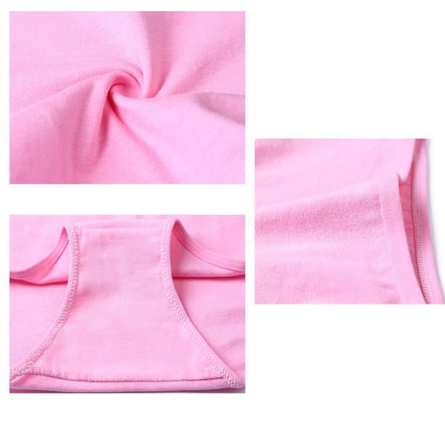 Women's Cotton Breathable Solid Color Seamless Panties 7 Pcs Set