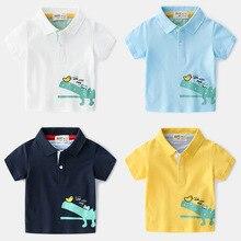 Kids Polo Shirts Cartoon Crocodile Boy. School Clothes Short Sleeve Boys Tees And Polos Breathable