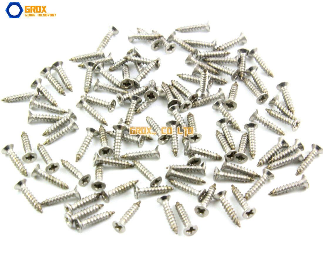 M2 304 Stainless Steel Phillips Countersunk Head Self Tapping Screw (M2x3mm 4mm 5mm 6mm 8mm 10mm 12mm) crossway для девочки barbie белые в полоску