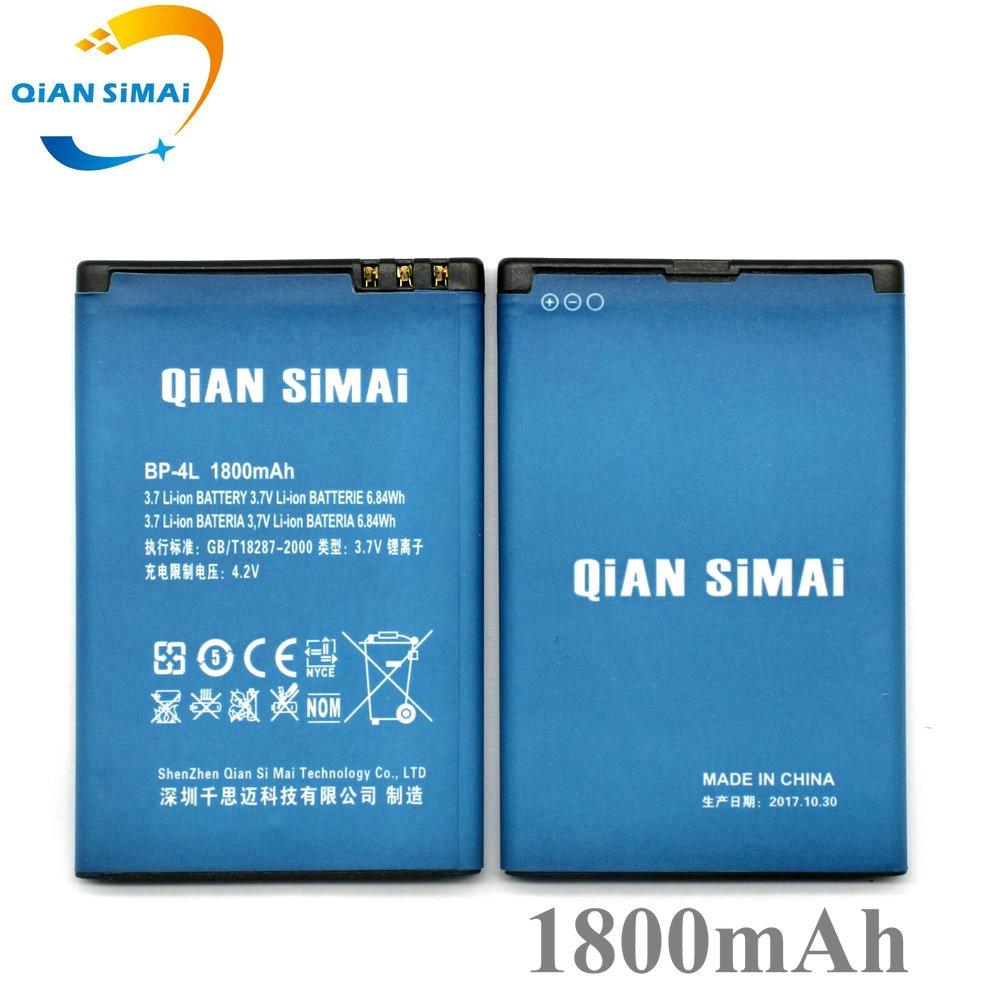 QiAN SiMAi 2017 New BP-4L BP 4L BP4L 1800mAh battery For Nokia E52 E61i E63 E71 E72 E73 E90 E95 N97 6650F N810 Phone