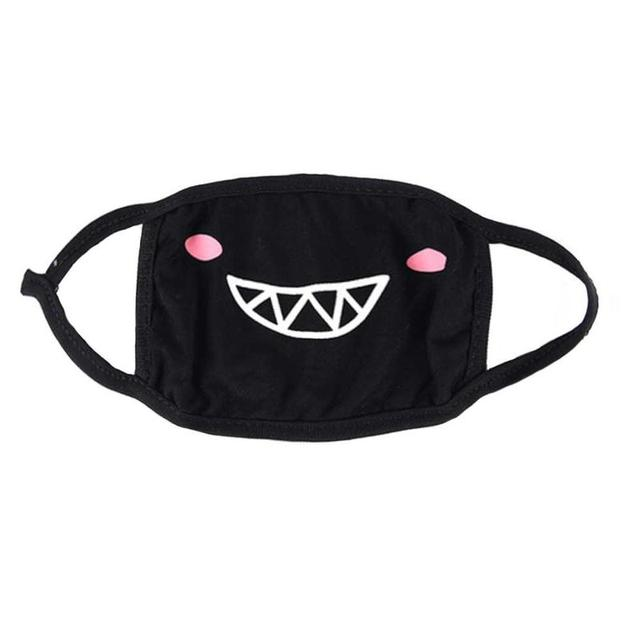 Cotton Mouth Dust Mask Masque Cartoon Unisex Korean Style Kpop Black Bear Cycling Anti-dust Cotton Mouth Face Mask 5