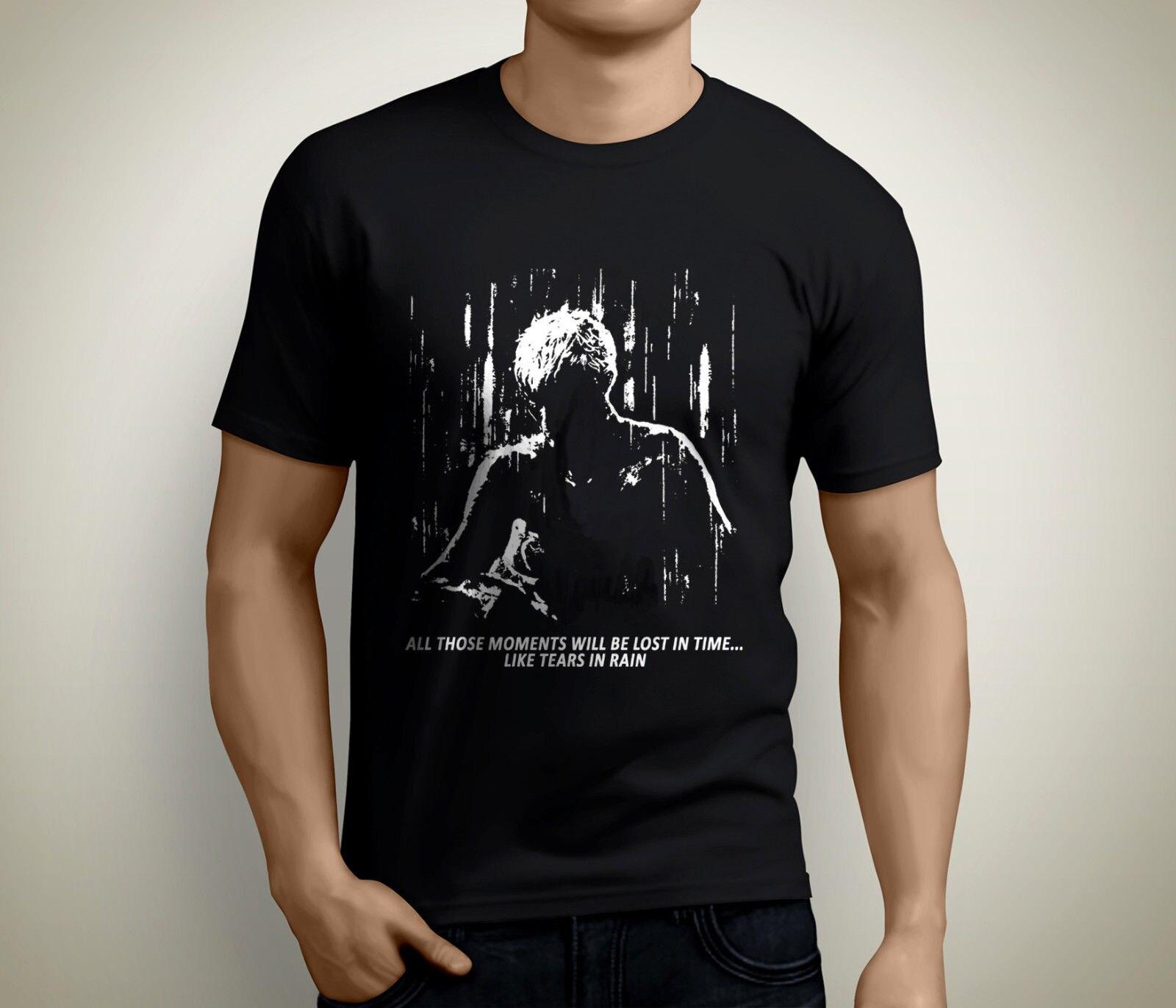 New Blade Runner Tears In Rain Short Sleeve Men's Black