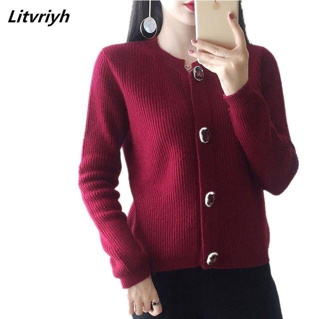 Litvriyh 18 новый осенний кашемировый свитер женский кардиган круглый средства ухода за кожей Шеи толстые теплые кашемировые для женщин кардиг
