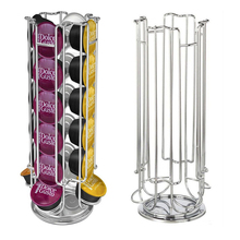 High quanlity Solutions Revolving Rotating 24 Capsule Coffee Pod Holder Tower Stand Rack For Dolce Gusto