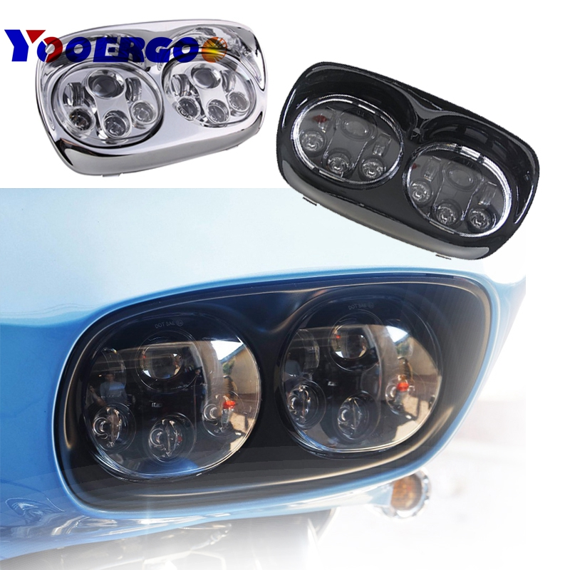 YOOERGOO Motorcycle Daymaker Projector Dual LED Headlight for Harley Davidson Road Glide 2004 2013