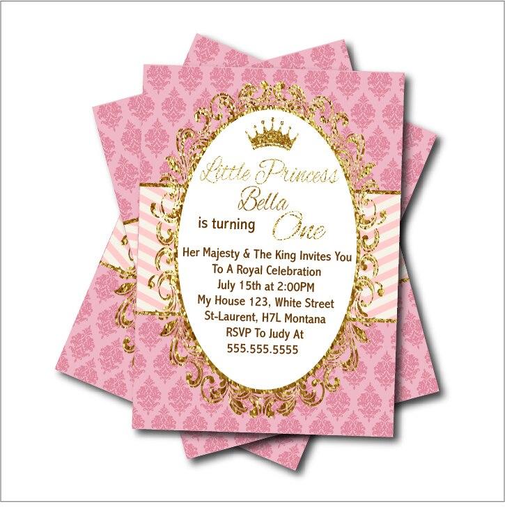 4 9 40 De Descuento 14 Piunids Lote Invitación Fiesta Princesa Cumpleaños Baby Shower Invitación Vintage Oro Brillo Fiesta Decoración Suministro