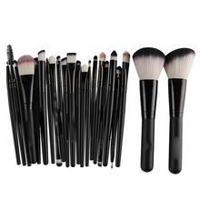 цены 22pcs Professional Makeup Brush Set Powder Foundation Eye Shadow Blush Blending Cosmetics Makeup Tools For Woman