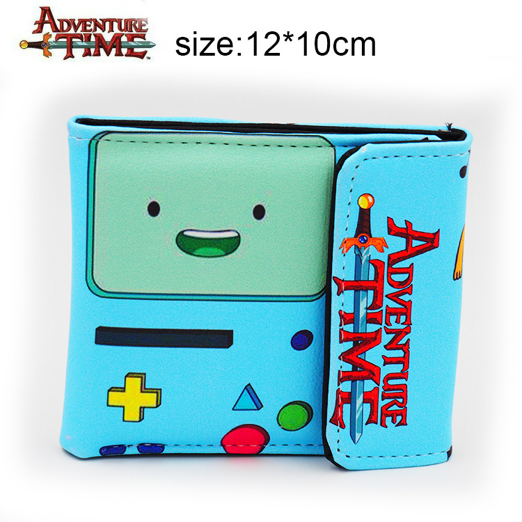 Anime wallet Adventure Time BMO Leather Wallet Cosplay BMO Purse polar soft strap white m xxl gen